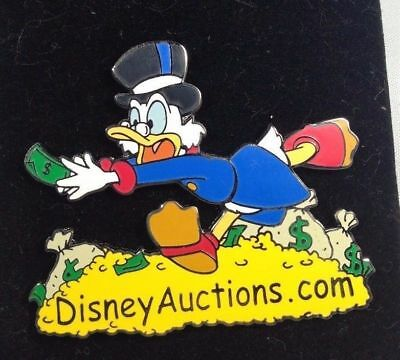 SCROOGE MCDUCK CHASING Money Dollar Bill Gold Disney Auctions Pin LE 1000  MOC