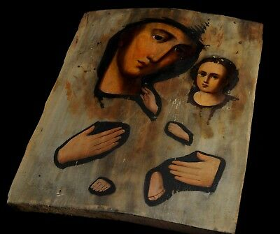 Icon of the Mother of God Ukrainian letter painting of the 19th century Russian