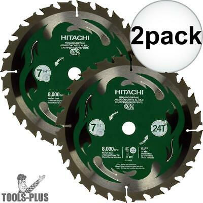 "Hitachi 115429 7-1/4"" 24-Tooth Carbide Circular Saw 2x New"