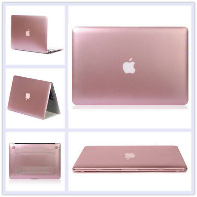 """Matellic Rose Gold Glossy Shiny Hard Case for MacBook AIR PRO 11.6"""" 13.3"""" 15.4"""""""