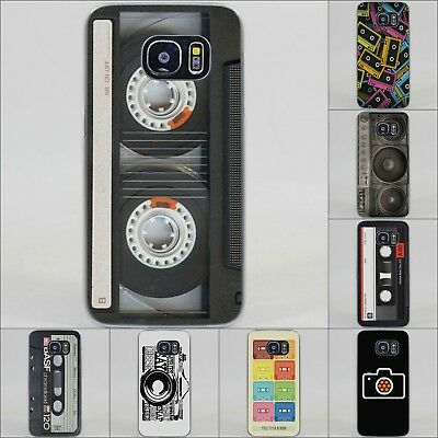 Vintage Camera Audio Tape Cassette Style Hard Case Cover For All Samsung Models