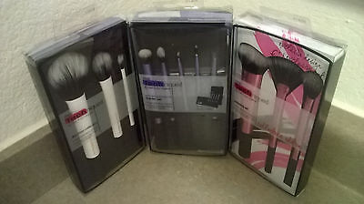 Real Techniques Makeup Brushes Sculpting Set Duo-Fiber Eyes Starter Kit ALL 3!