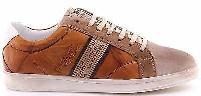 Men s Shoes Sneakers LA MARTINA L3006202 Camoscio Farro Plutone Cuoio  Leather 470db3b57a7