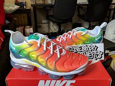 6ad21a82e3571 Nike Air Vapormax Plus Rainbow Blue Neptune Green Dynamic Yellow Red  924453-103