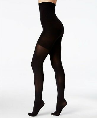 Spanx Original High Waisted Shaping Control Tights BLACK Opaque Plus Size D E F