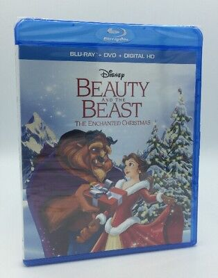 Beauty and the Beast: Enchanted Christmas (Blu-ray+DVD, 2016) DMC Exclusive