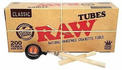 RAW Natural Unrefined King Size Cigarette Tubes (200 Tubes per Box) - 1 Box