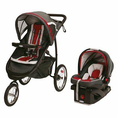 Graco Fast Action Jogger Connect 35 Elite Travel System - Chili, Red