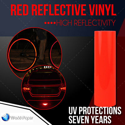 "RED Reflective Vinyl Adhesive Cutter Sign Hight Reflectivity 24"" x 25 Feet"