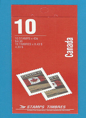 Canada Stamps 1992 43 Cent Scott* BK153 Flag Over Prairie Booklet Of 10