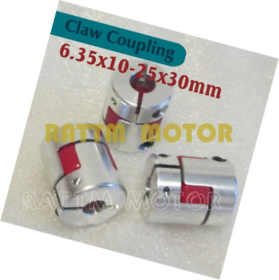 3Pcs 6.35x10mm CNC Stepper Motor Jaw Shaft Coupler 6.35mm to 10mm Flexible Jaw S