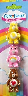 Care Bears 3D Colourful Erasers -Back to School / Travel / Home - WH3-SC084- NEW