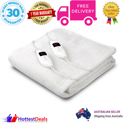 Single Bed Electric Blanket Fully Fitted Warm 9 Setting Cosy Fabric Winter Sleep