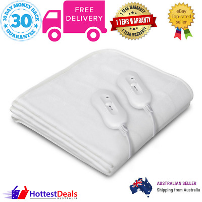 Queen Bed Electric Blanket Fully Fitted Warm 3 Setting Cosy Fabric Winter Sleep