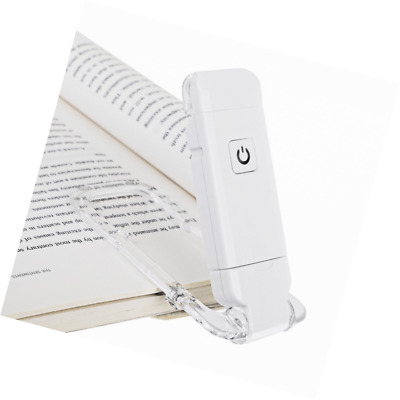 Dewenwils USB Rechargeable Book Light Clip on LED Reading Light, 2 Brightness Le