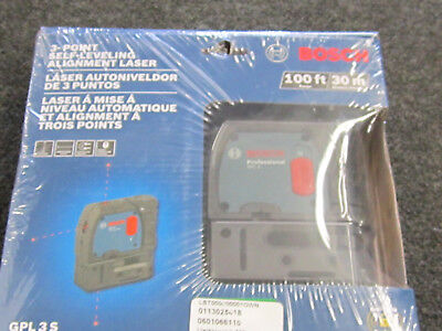 Bosch GPL 3 S 3 Point Sel Leveling Alignment Laser