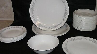 GUC CORNING CORELLE Ribbon Bouquet Replacement Dishes Plates Saucer ...