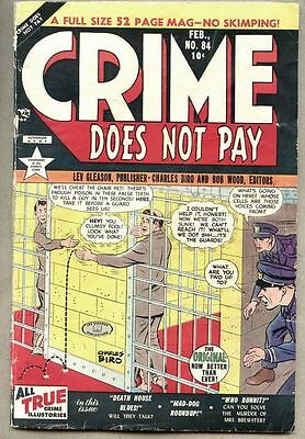 Crime Does Not Pay #84-1950 vg Charles Biro Electric Chair story pre-code Crime
