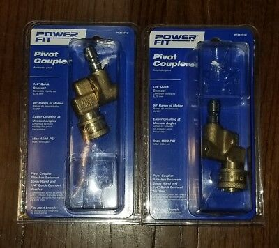 """(2 PACK) Pivot Coupler 1/4"""" Quick Connect Pressure Washer Nozzle 4500 PSI NEW"""