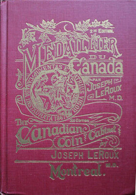 Canadian Coin Cabinet by Joseph LeRoux 1964 Hardcover 592 Pages Token