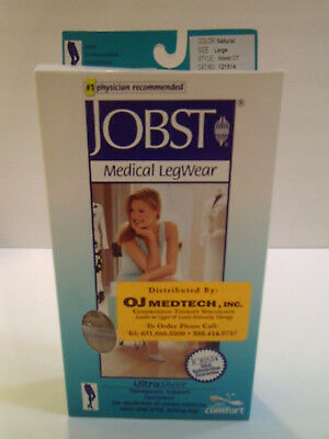 Jobst Firm Compression Pantyhose 20-30 mmHg, Natural, Large, #121514, Waist CT