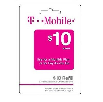T-Mobile $10 Refill -- Loaded Directly.