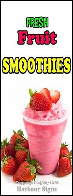 Smoothies DECAL (Choose Your Size) Concession Food Truck Vinyl Sign Sticker