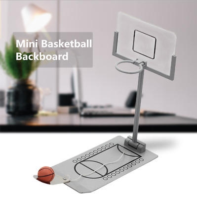 Mini Table Top Steel Basketball Backboard Office Unisex Stress Reliever Toy Gift