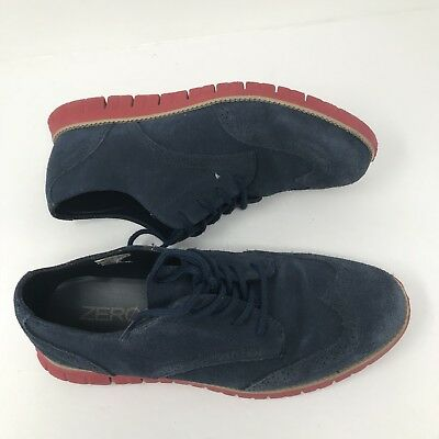 Cole Haan Lunargrand OS Long Wing Tip Blue Youth Size 7