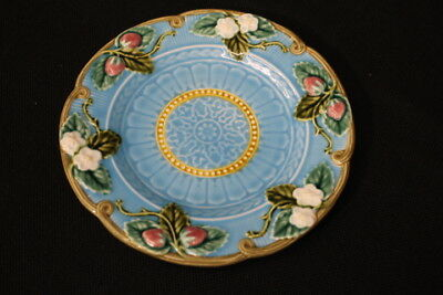 Fitz & Floyd Majolica Strawberry Leaf Plate 19th Century Design Fraise des Bois