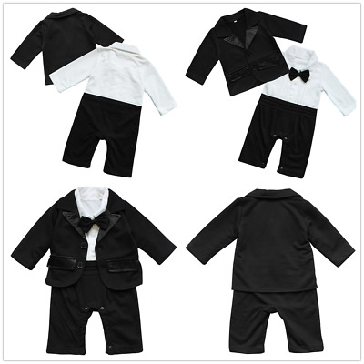 Toddler Infant Baby Boy Gentleman Suit Outwear Tops Shirt Pants Outfit Clothes