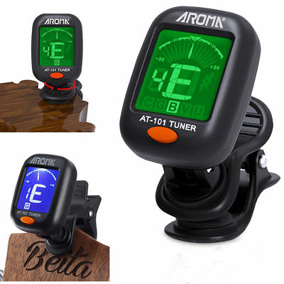 LCD Clip-on Electronic Digital Guitar Tuner for Chromatic Bass Violin Ukulele EF