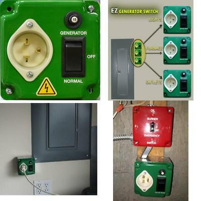 EZ GENERATOR SWITCH - Generator Manual Transfer Switch UNIVERSAL UL/CSA approved