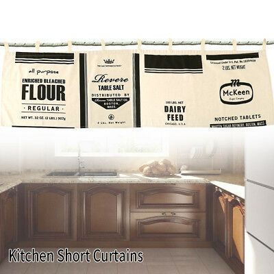Modern Black White Kitchen Half-curtain Kitchen Curtain Cafe Short Panel Curtain