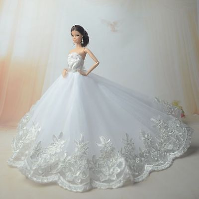 White Fashion Royalty Princess Dress/Clothes/Gown for 11.5in.Doll Y185u
