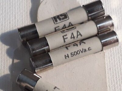 10 boxes of 32mm HBC type F fuses, RS Components 413 - 232, 7amp.