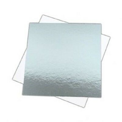 """Cake Boards SQUARE Reversible cut edge  6"""" 7"""" 8"""" 9"""" & 10""""  1.5mm thick"""