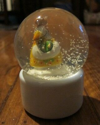 Goebel Zwillinge Gemini Glass & Ceramic Snow Dome Globe Excellent Condition