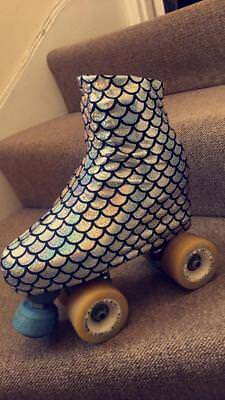 Silver AB Mermaid Boot covers roller skating / ice skating
