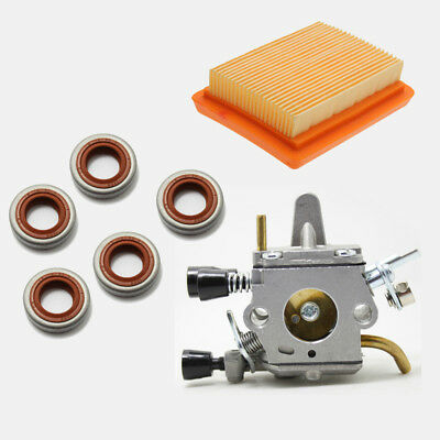 Carburetor Air Filter Cleaner Oil Seal Kit For Stihl FS120 FS200 FS250 Trimmer