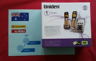 Uniden Dect Digital 1735+1 2 Handset Cordless Telephone And Answer Machine Used