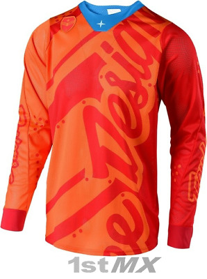 Troy Lee Designs TLD SE Air Shadow Orange Red MX Motocross Jersey Adults XXLarge