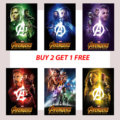 Avengers Marvel Infinity War Movie Film Posters Super Hero Comic A4 A3 A2 -250