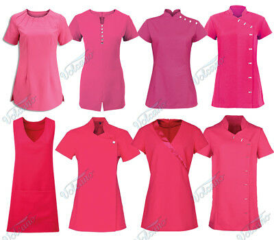 Hot Pink Beauty Tunics For Salons, Spa, Hairdressers, Health Care Professionals,