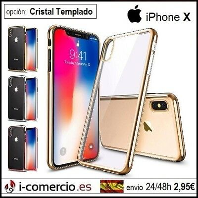 Funda Carcasa Silicona TPU GEL Borde Metalizado Electroplate Apple Iphone X / XS