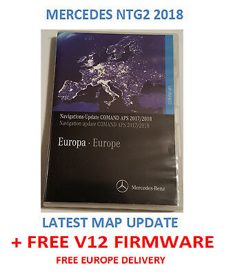 MERCEDES NTG2 2018 Comand Aps Europe V19 PLUS FREE Firmware v12 disc