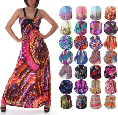 Neckholder Maxikleid Sommer bunt Tanzkleid Salsa Latin Party Cocktail 36 38 S M