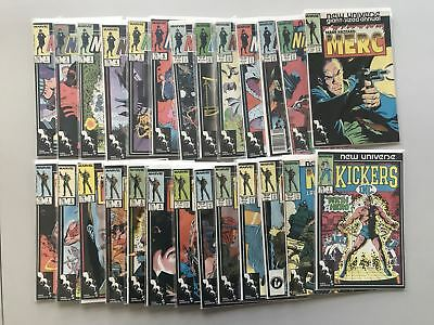 New Universe Complete Sets NightMask 1-12 Mark Hazzard Merc Kickers VF Very Fine