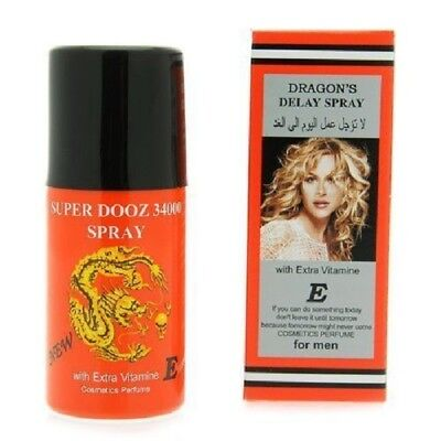 Genuine Dragons Super Dooz 34000 Delay Premature Ejaculation Spray for Men FS
