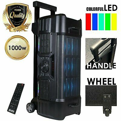 EBZ120 PK1 1000W LED Party Bluetooth / USB / SD Rechargeable Portable Speaker